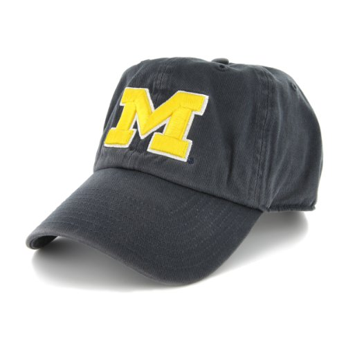 NCAA Michigan Wolverines '47 Clean Up Adjustable Hat, Navy, One Size - Michigan Wolverines Clothing