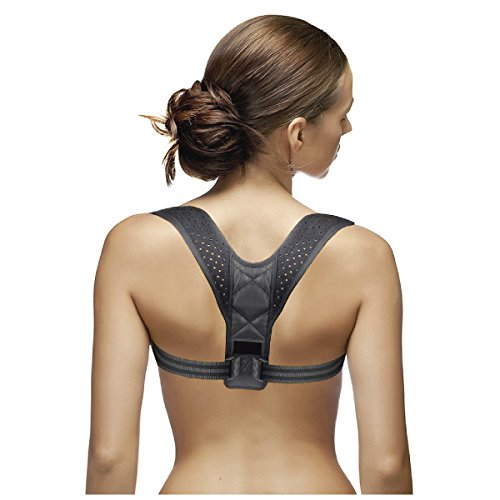 Posture Corrector for Women | Back Support Brace for Postural Correction | Relief from Neck and Back Pain | Lightweight & Breathable | Fully Adjustable Front Straps | Invisible Under Clothes by Bella
