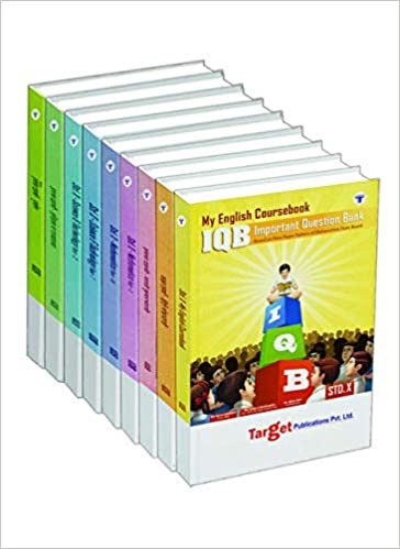 Std. 10th IQB Semi English Medium Entire Set, (MH Board) (Combo of 9 Books viz; English, Hindi, Marathi, Maths (2), Science (2), History and Geography Book)- by Sunita D
