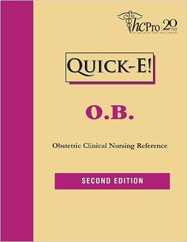 Descargar Libros Quick- E O.b.: Obstetric Clinical Nursing Reference De Gratis Epub