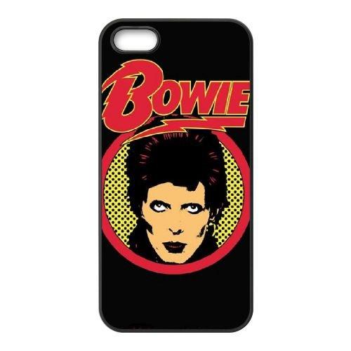 David Bowie 003 coque iPhone 4 4S cellulaire cas coque de téléphone cas téléphone cellulaire noir couvercle EEEXLKNBC24459