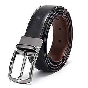 Eliz Luxe Belts for Men Reversible Leather 1.25 Waist Strap Fashion Dress Buckle Eliz Luxe – 1 Year Warranty