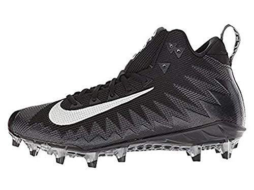 Nike Men's Alpha Menace Pro Mid Football Cleats (White/Green,12 D (M) US)