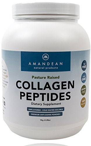 Hydrolyzed Collagen Peptides Powder (XL 2.2lbs) | Grass Fed Collagen Protein | Paleo & Keto Friendly | Pure Collagen Hydrolysate for Anti-Aging | Unflavored, 18 Amino Acids for Hair, Skin, Joints, Gut (Knox Beef Gelatin)