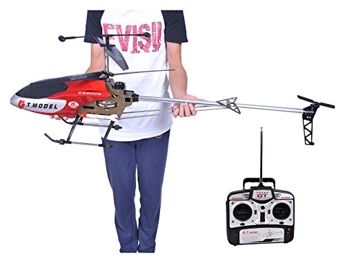 (53 Inch Extra Large GT QS8006 2 Speed 3.5 Ch RC Helicopter Builtin GYRO Red)