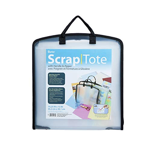 (Darice Scrap Tote with Handle and Zipper, 14.25 x 15 inches)