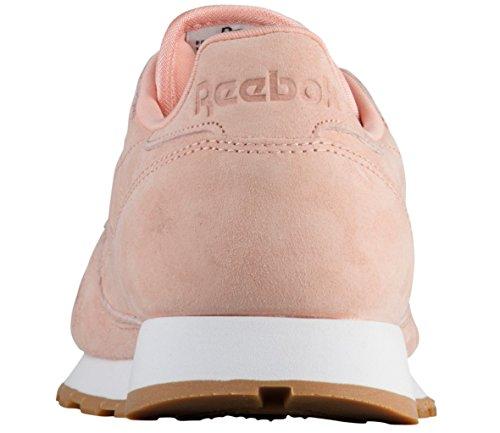 Reebok Mens Cl Lthr Pastelli Sneaker Desert Stone / Classic Whit