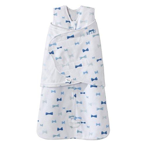 Halo Sleepsack Swaddle Micro Fleece - Bowties Blue Size NB