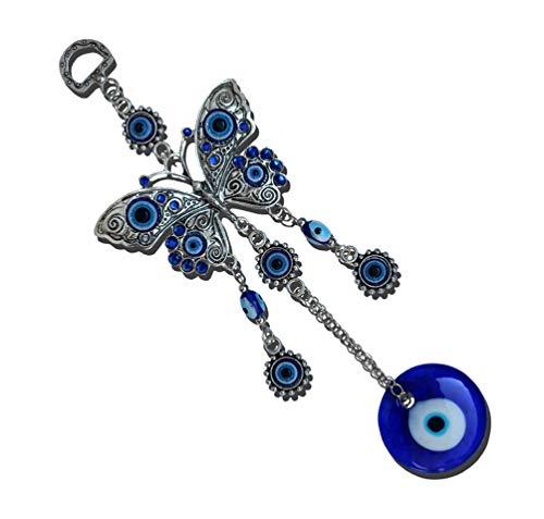 MUYE Blue Evil Eye Hanging Decoration, Amulet Wall Hanging Home Decor Car Pendant (HDIE)