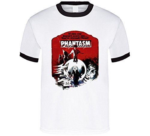 Phantasm Horror Cult T Shirt L Black Ringer (Horror Tshirts)