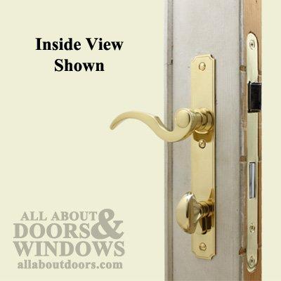 Atrium Door Lock Replacement Hardware Set Polished Brass Entry