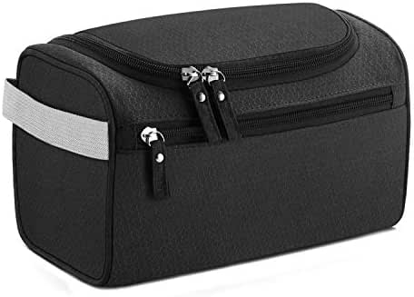 Buruis Hanging Toiletry Bag, Waterproof Travel Makeup Organizer for Women, Portable Hanging Large Cosmetic Makeup Pouch for Shower,Travel, Trip, Vacation, Gym, Airplane - 7 Colors