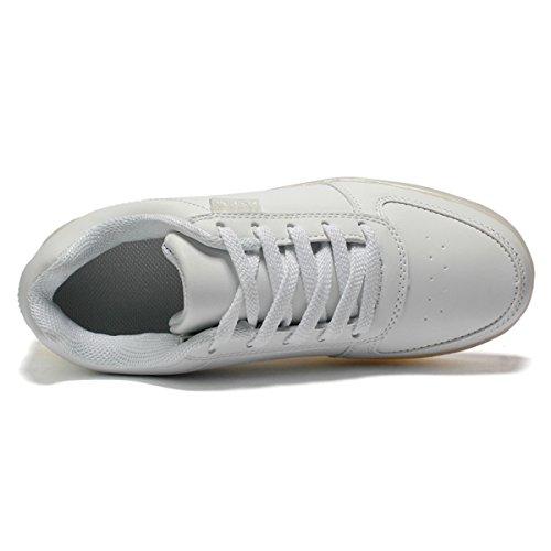 Bright Con Suola Usb Nella Sneakers Lampeggiante 8 Bianca Scarpe Dogeek Led Luminosi Shoes Colori Luce Trainners Luci Tennis Unisex Adulto vS6qPt