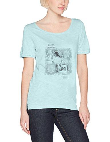 s.Oliver, Camiseta para Mujer Türkis (Bleached Aqua Placed Pr. 60D2)