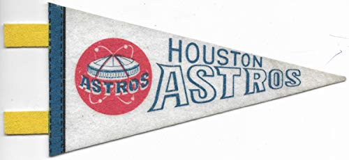 - Vintage Major League Baseball Houston Astros Mini Pennant With Tassles
