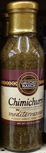 Gaucho Ranch Chimichurri Sauce, Mediterranean 12.5 Oz (Pack of 3)