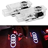 ZNYSTAR 2pcs Car LED Logo Ghost Shadow Light Door Welcome Projector Lights for Audi A8 A5 A6
