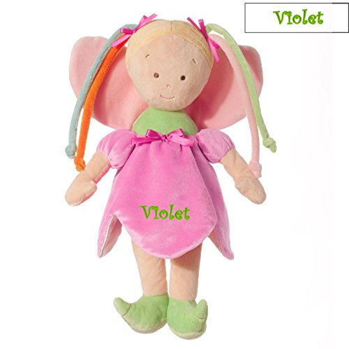 Personalized Pink Fairy Princess Doll - 14 Inch - Blonde, Violet