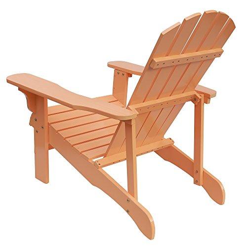Songsen Outdoor Wood Adirondack Lounge Chairs Patio Deck Garden Furniture