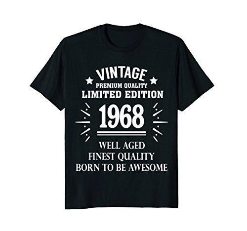 Funny Vintage T-shirt 1968 50th Years Old 50 Birthday Gift