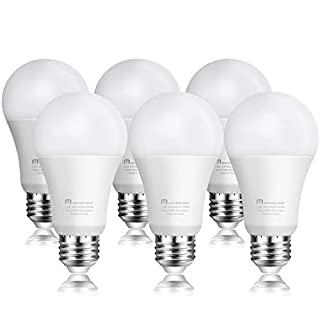 Led Light Bulbs 10 Watt [60 Watt Equivalent], A19 - E26 Dimmable, 5000K Daylight White, 800 Lumens, Medium Screw Base, Energy Star, UL Listed by Mastery Mart (Pack of 6)