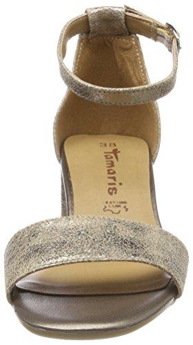 Tamaris Dames 28394 Sandaaltjes Witte (champagne Voldaan.)