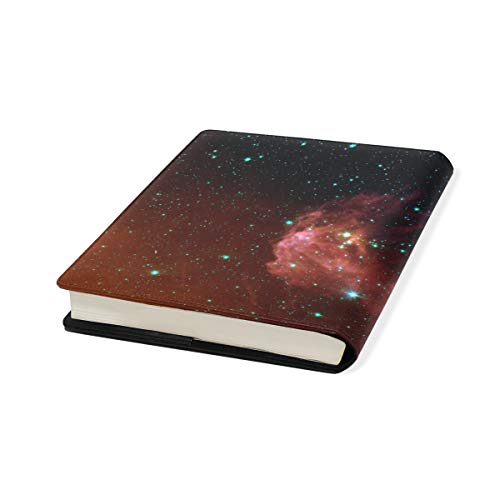 Star Art Stretchable Leather Book Covers Standard Size for Student Hardcover Textbooks Fits up to 9x11-Inch for School Girls Boys Gift by FeiHuang