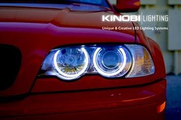 Nuevo Bmw E46 3 Series Blanco 7000 K Led Faros Ojos De Angel Kit De