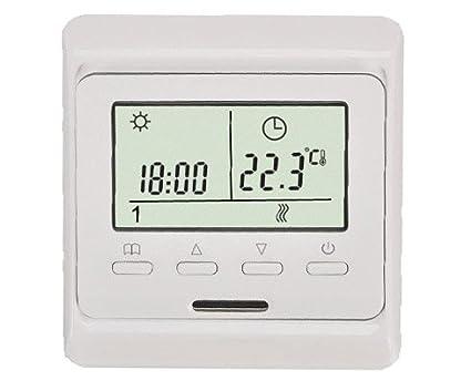 Calefacción central Termostato Digital programable de aire sensor 3 A