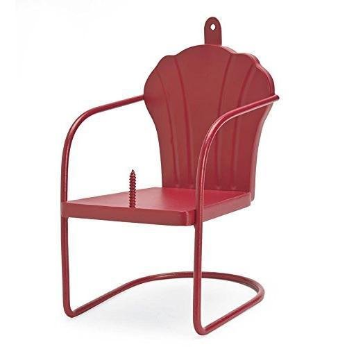 Red Retro Lawn Chair Squirrel Feeder GY#583-4 6-DFG252829
