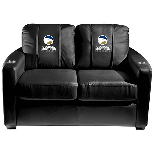 XZipit College Silver Loveseat with Georgia Southern University Logo Panel, Black