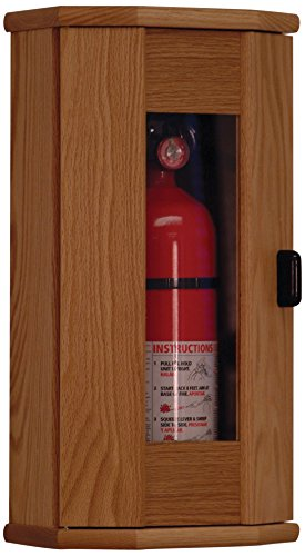 Wooden Mallet Fire Extinguisher Cabinet, 5-Pound, Light Oak/Acrylic by Wooden Mallet