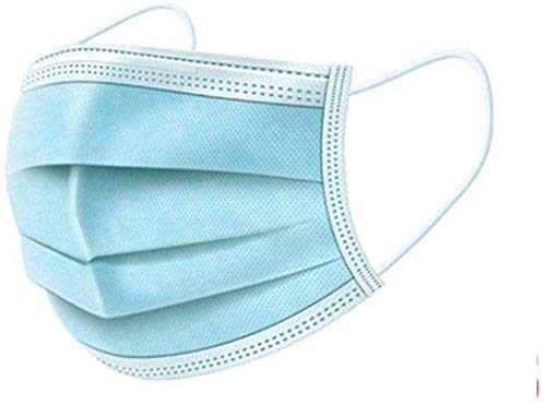Boob lady Mask 3 Layer Structure 99% Cut Splash face mask Protective mask 50 Sheets Pollen (Color : Blue, Size : 50PCS)