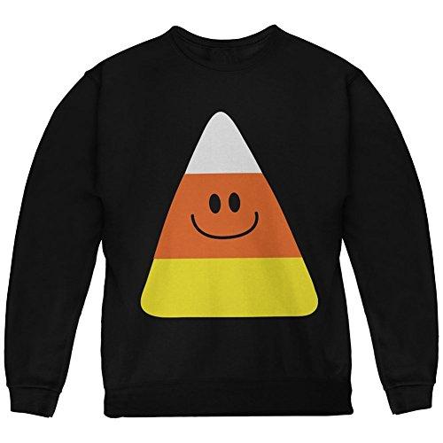 Halloween Candy Corn Costume Black Youth Sweatshirt - Youth X-Large (Candy Costumes For Halloween)