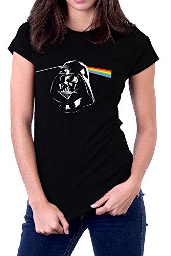 Funny Pink Floyd Darth Vader Dark Side of The Moon Star Wars Women's T-Shirt (Darth Vader Dark Side Of The Moon)