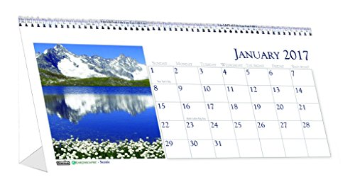 (House of Doolittle 2017 Monthly Desktop Tent Calendar, Scenic, 8.5 x 4.5-inches (HOD3649-17))