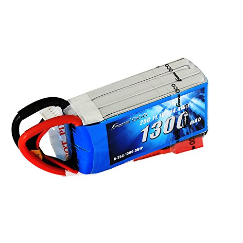 Review Gens ace 11.1V 1300mAh 3S 25C/50C LiPo Battery Pack with Deans Plug for RC Plane Heli Airplane FPV