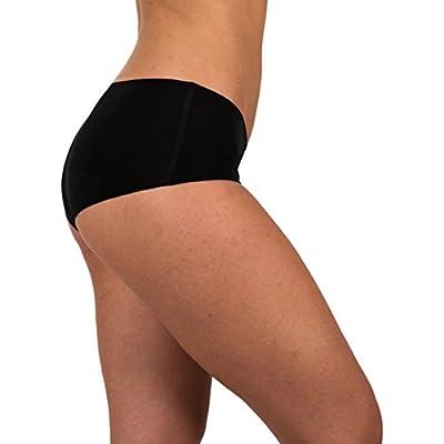 Sexy Basics Women's 6 Pack Laser Cut Seamless Invisible Boyshort Panty
