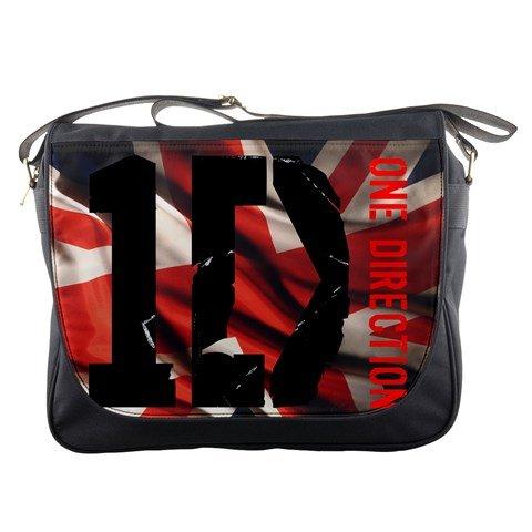 One Direction 1D Union Jack British Flag Concert Tour Messenger Bag School Textbook Macbook Ipad Laptop Computer Sling Cross Body - Number Uk Customs Tracking