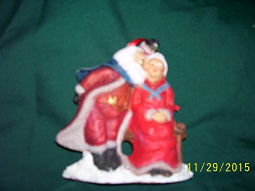 Antique Mr.and Mrs. Santa Clause ornament ()