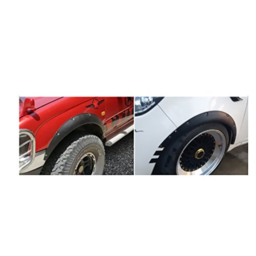 Dovewill Set of 4 New Wheel Fender Flares Eyebrow Wide Moulding Trim ABS Conversion Kit by Dovewill (Image #7)