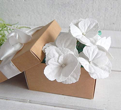 Handmade Flower Hair Pins with White Hydrangea Bridal Hairpiece Wedding Hairpins Floral Headpiece ()