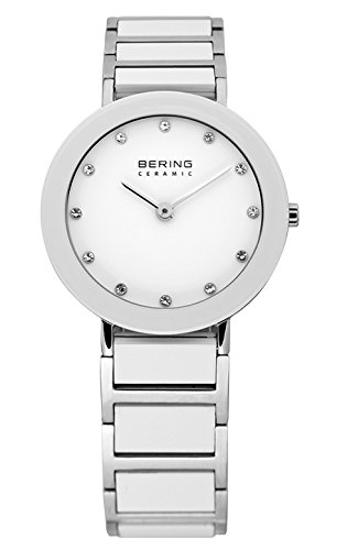 BERING Time 11429-754 Womens Ceramic Collection Watch with Stainless steel Band and scratch resistant sapphire crystal. Designed in Denmark.