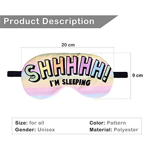 Llamazing Cartoon Funny Eye Mask for Sleeping Traving with Adjustable Strap (Shhhhh, One Size) by Llamazing (Image #2)
