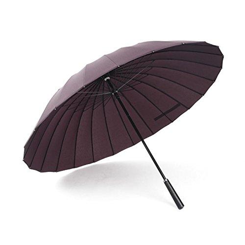 ZQ@QXRobusto antivento di uomini e donne d'affari sunscreen ombrello ,A1 rosso
