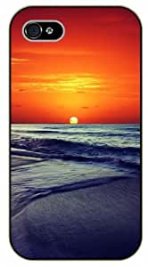 iPhone 5 / 5s Sunset at sea, ocean - black plastic case / Nature, Animals, Places Series