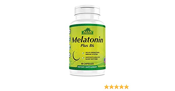 Amazon.com: Melatonin Plus B-6 Supplement with 5MG by ALFA VITAMINS - Sleep Cycle Regulator - Cardiovascular Health - Immune System - 60 Capsules: Health ...