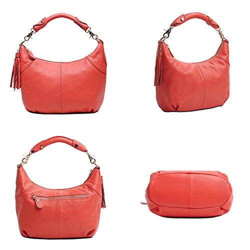 Classico Vera Pelle Body A Freeze Cross Alta Rosa Bag Rossa Tracolla Qualità Borsa ZwCAdnq