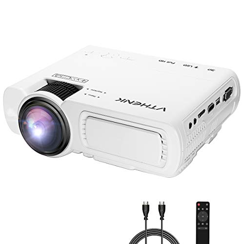 Home Theater Led (VTHENK Projector, Portable Led Projector for Home Cinema, 2600 Lux Video Projector with 180