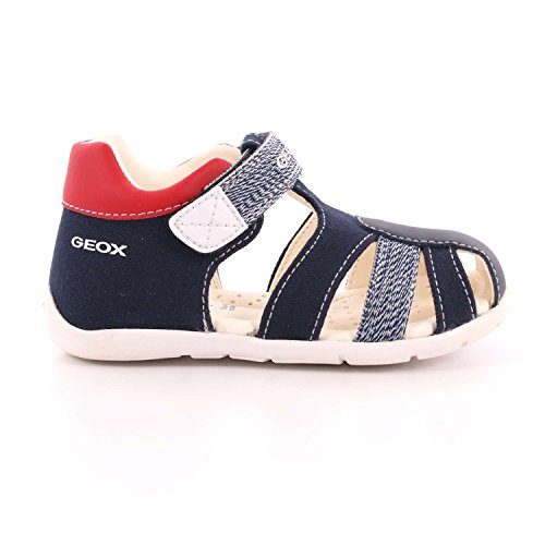 Geox Baby Boys' B Kaytan D Open Toe Sandals, Blue Blue Navy / White
